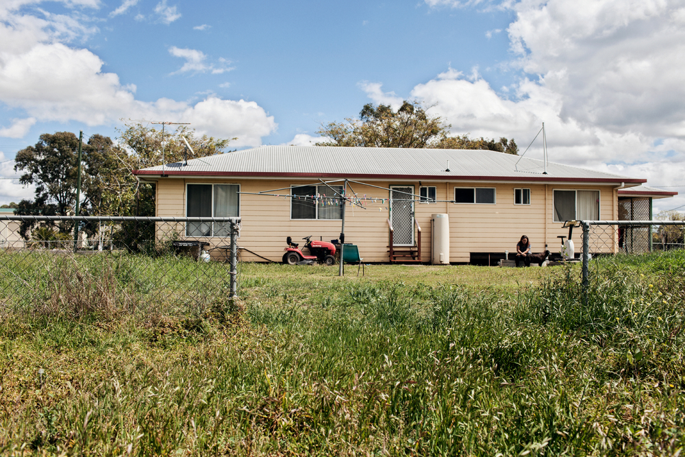 """Saraeah Nater, 16, lives with her Nan, Hope, her Aunt, Lorraine, and Sister, Cedellain a modest yellow house on the edge of Dalby town center. Her paternal grandmother and Aunt took Saraeah and Cedella, 13, when """"DOCS"""" called them asking if they would taken the then young girls in so they would not have to go into the foster system like their two older sisters."""