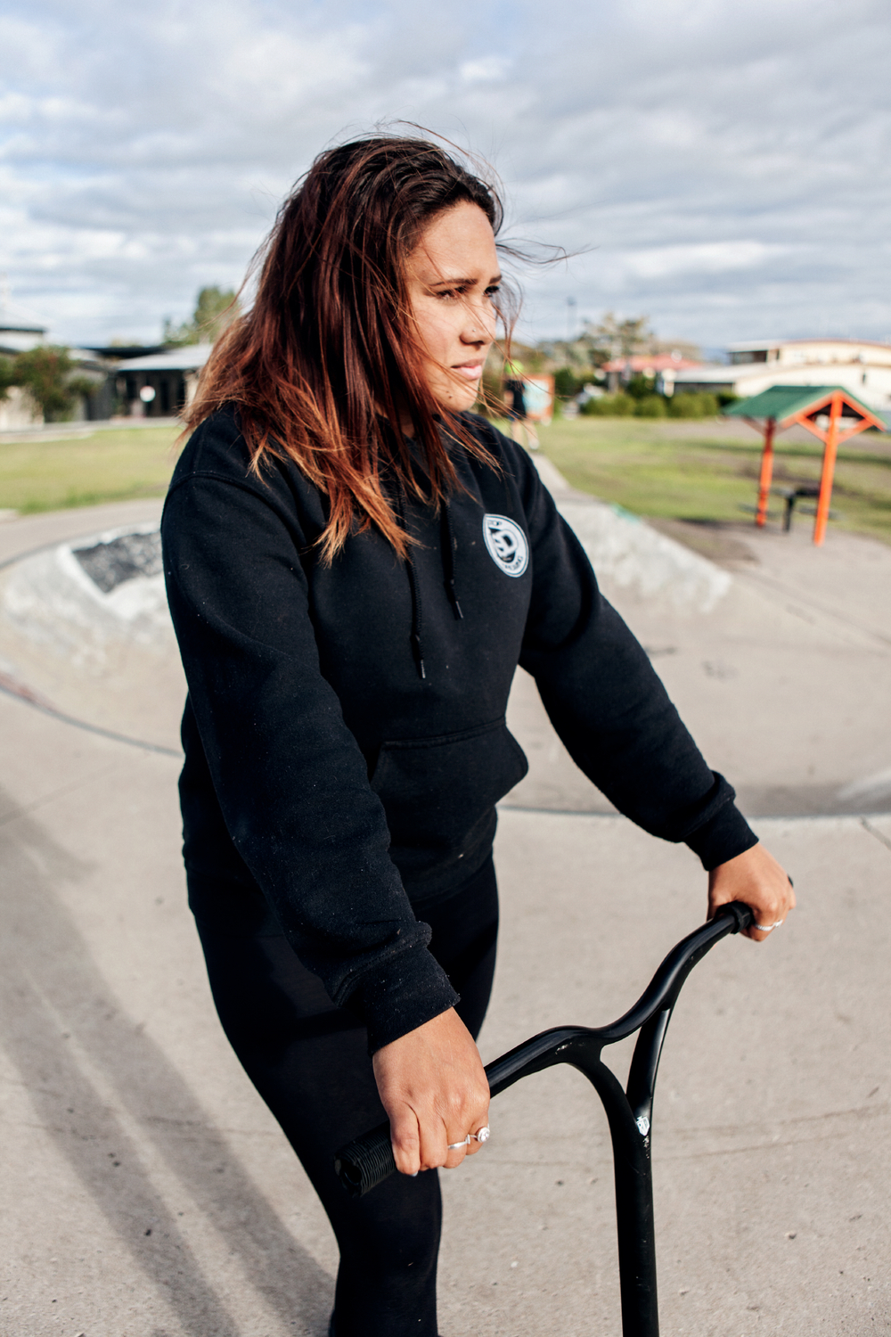 """Saraeah spends most of her time at the local skate park next door to the centre and across the street from her school with her boyfriend, Tommy. """"I skate everyday after school and on the weekend, that's all I do."""""""