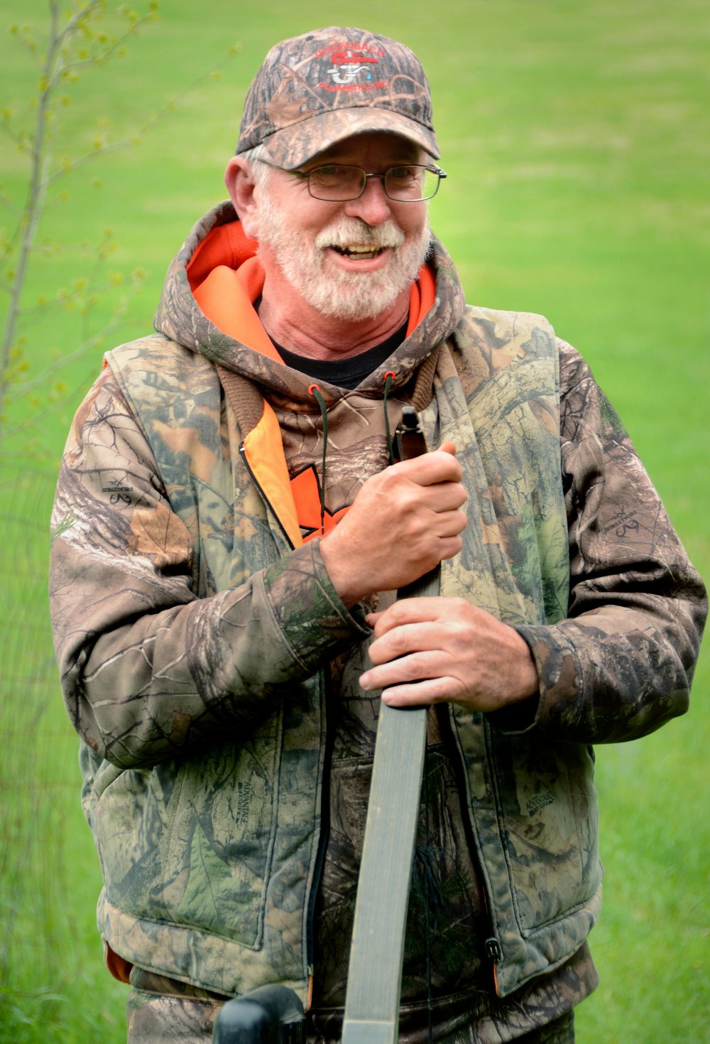 Kelly White with his recurve bow