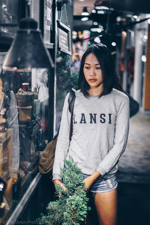 Women's lifestyle fashion portrait by Chiang Mai photographer Sean Dalton