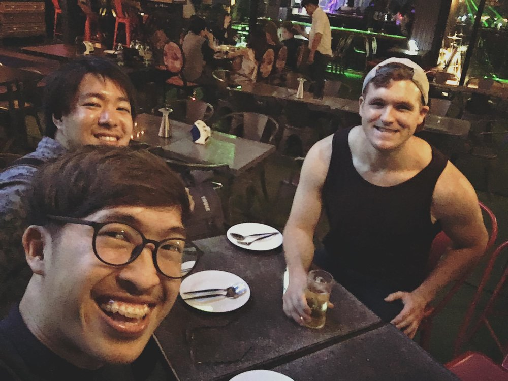 Eating snails with my Japanese and Thai friends at 1:00am, because why not?