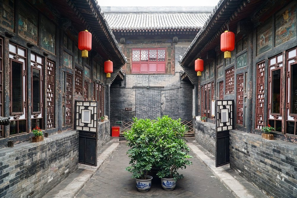 A traditional Chinese courtyard. Pingyao, China.