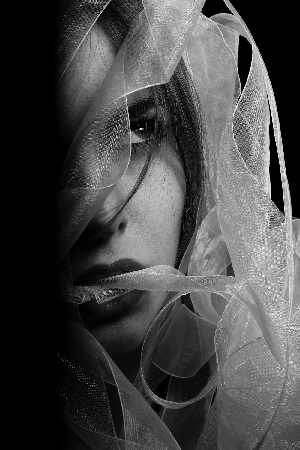 Black and white portraits rely on contrast, but don't overdo it.