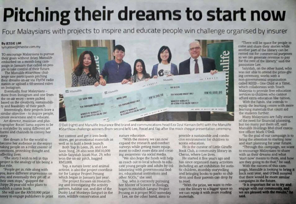 Manulife 60-Seconds Pitch    Awarded:   RM 10,000 cash   Medium:   Comic Book   Pitch:   Bus Ride     Year:  2017