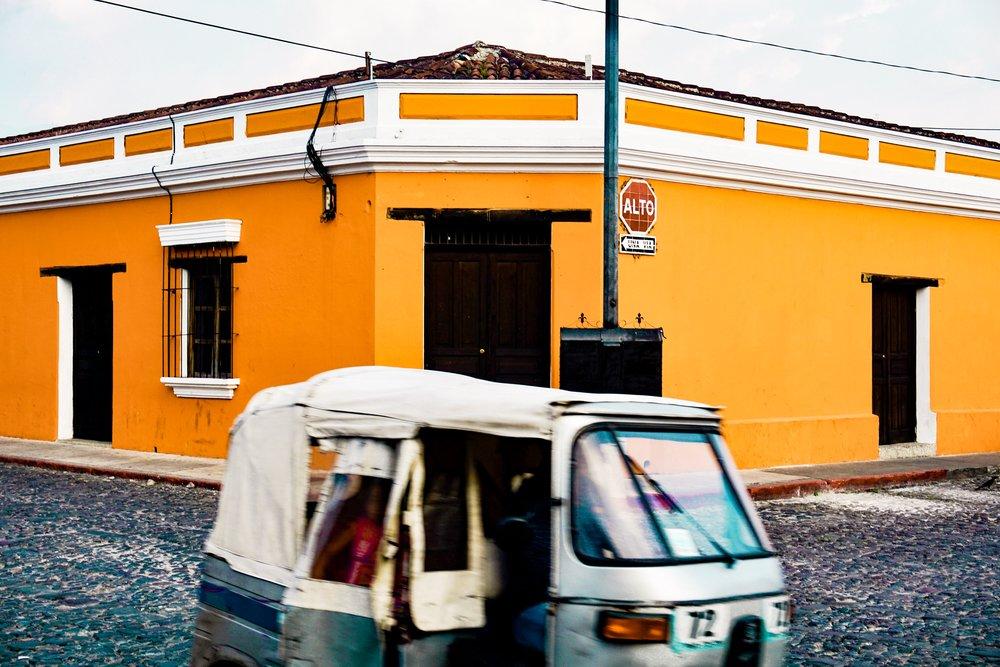 Tuk Tuk rides in Antigua, Guatemala