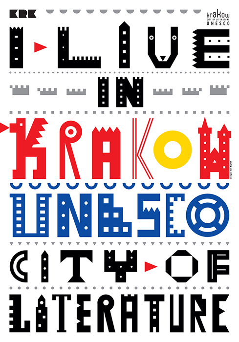 """Krakow City of Literature Unesco"", visual identity, client: Krakow Festival Office, 2013"