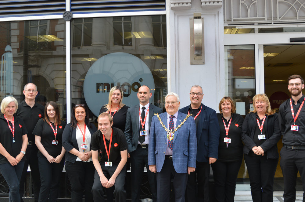 Mayor of Ipswich: Roger Fern - with the team at MyGo