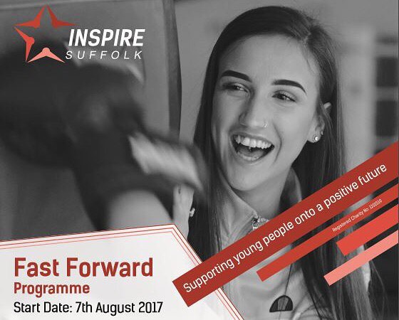 Check out Inspire Suffolk's upcoming Teamwork and Confidence building programme: Fast Foward on 7th August. Call 07794221775 to book!