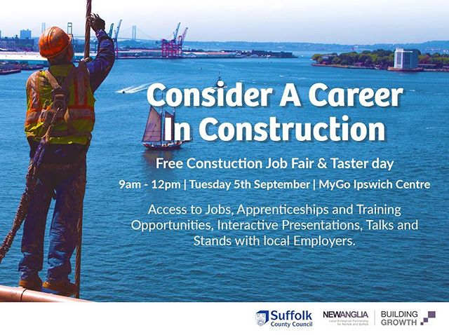 Find out about careers in #Construction at our Jobs Fair/Taster day this September! Meet employers, find opportunities and apply for jobs.