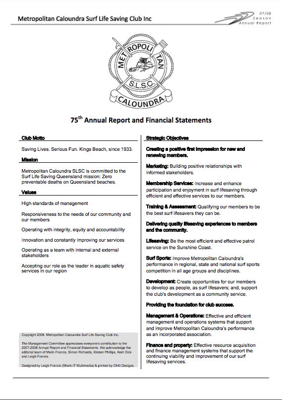 75th Annual Report and Financial Statements (2007-2008)