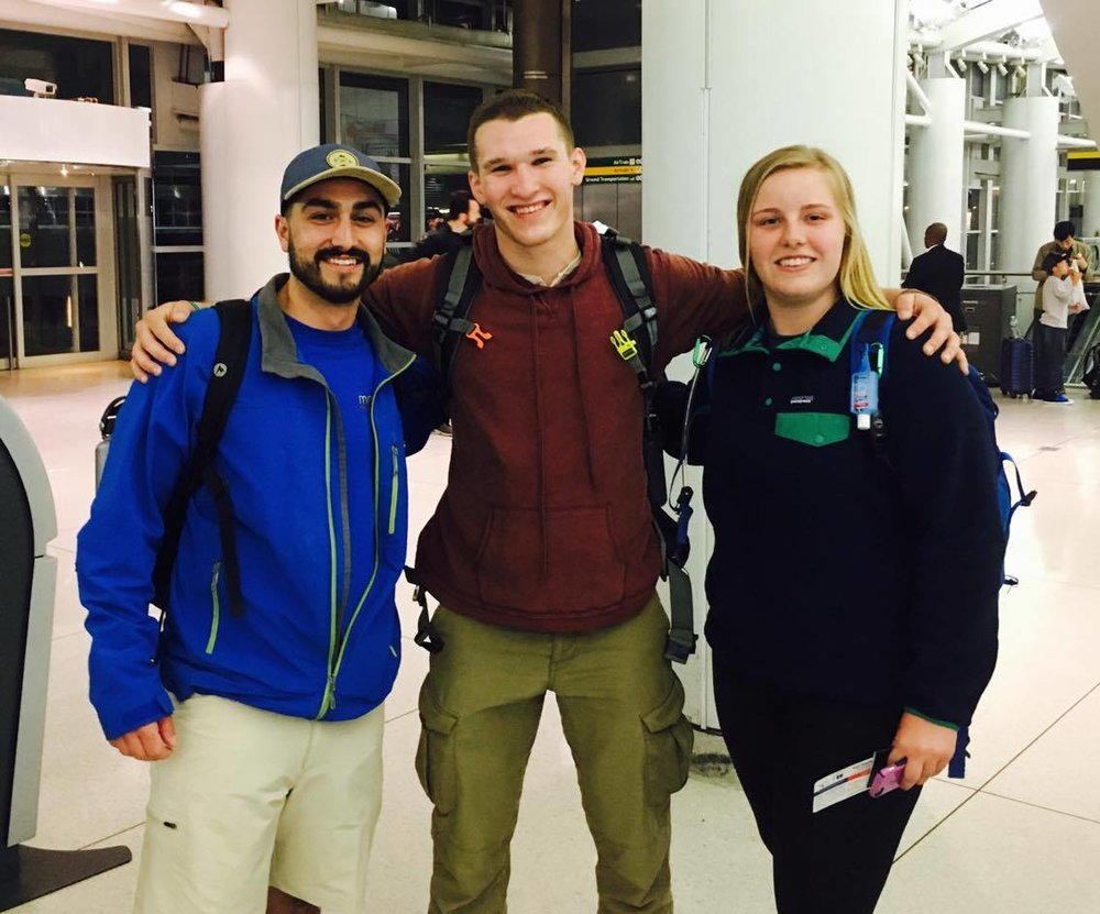 Logan, Gillian and Bruce all prepared for the hike. Supporting Medical Missions for Children and hailing from Pennsylvania State University.