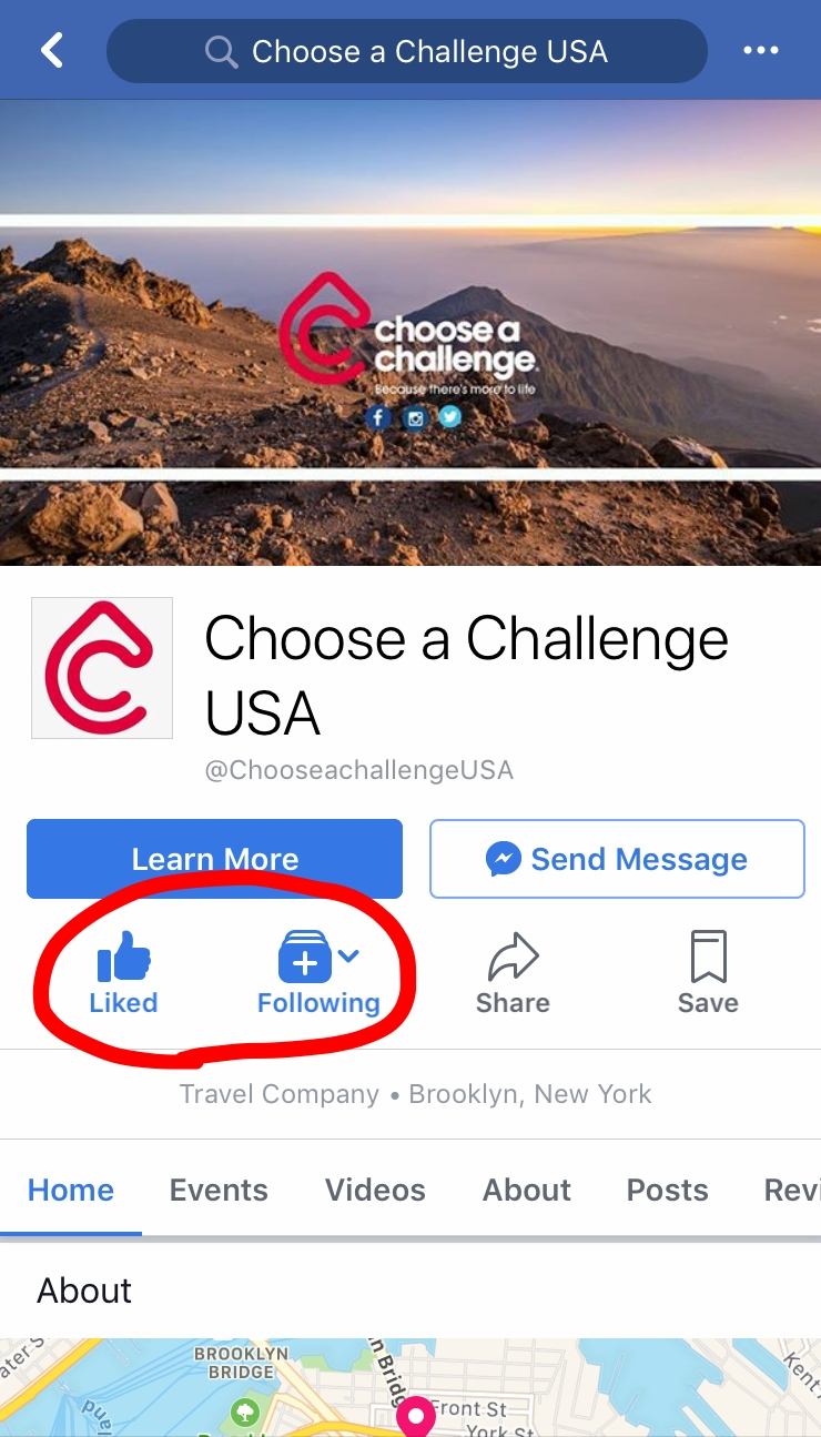 Get notified on Facebook whenever we send updates from the mountain by liking & following our page