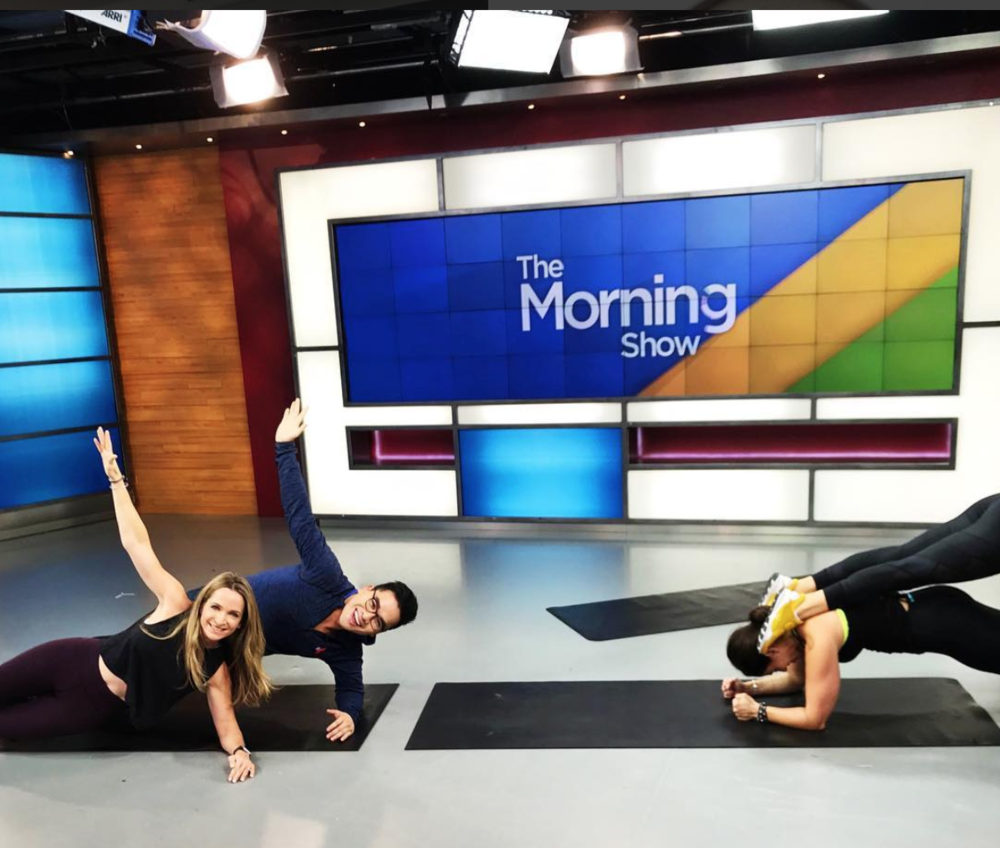 The POWER of PLANK on  @morningshowto   @globaltv ! 💪 Love 'em or hate 'em, planks are the ultimate exercise for building a strong core! The  #GiFTsquad  had a blast breaking down our favourite variations this morning! 👏💥