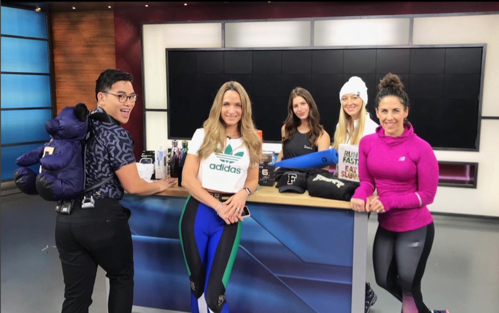 #GiFTsquad getting in the holiday spirit this morning on on  @morningshowto  @globaltv ! ❄️We had a blast sharing this season's best 🎁 for fitness fanatics!