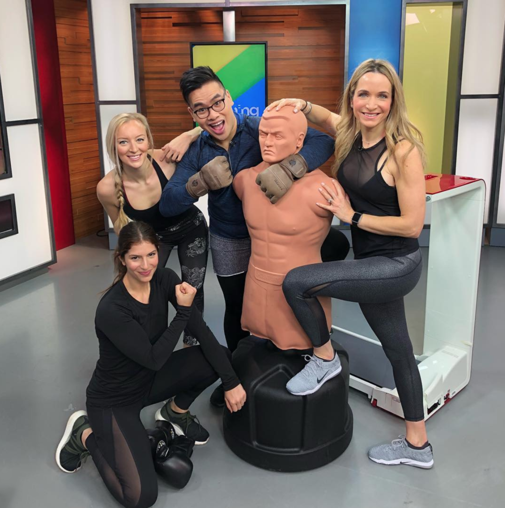 Up and at 'em bright and early today for another fantastic  @morningshowto   @globaltv  segment! ☀️ Today we shared the newest fitness trends of 2018. A huge shoutout to  @tf_canada  for providing all the equipment. I have a feeling this year will be incredible! 🙌 Who's with me?