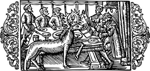 Imago alcis cerevesiam potantis in opere de septentrionibus gentibus.