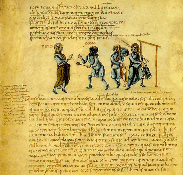 Andria, manuscript c:a 825 A.D. Learn to speak latin, latinitium.com
