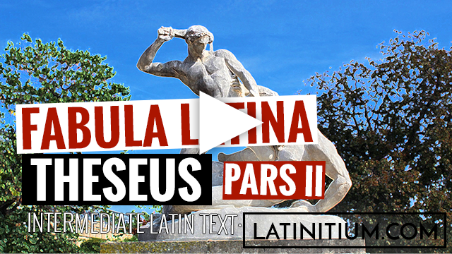 Learn Latin by listing to and watching this video of an easy story in Latin. Theseus arrives in Athens.