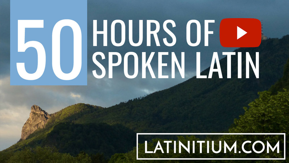 Learn Latin, listen to Luigi Miraglia, Terence Tunberg and many others speak Latin fluently.