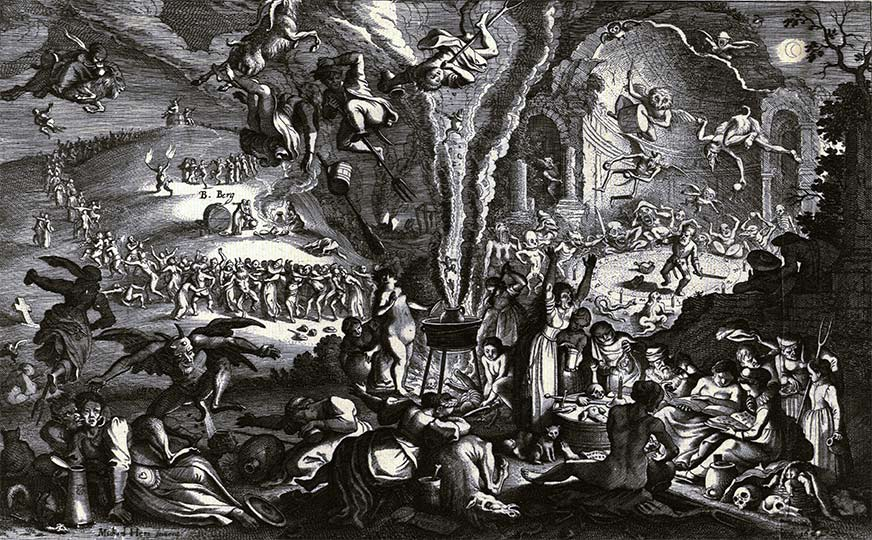 Witches feast at Blåkulla. Learn Latin with Latinitium.com.