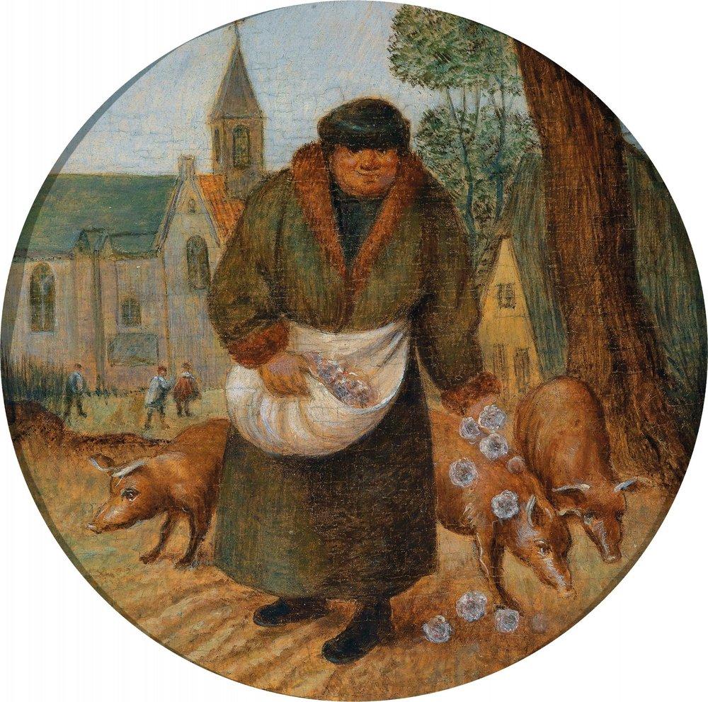 """Petri Breugelii iunioris """"Parels voor de zwijnen werpen"""""""