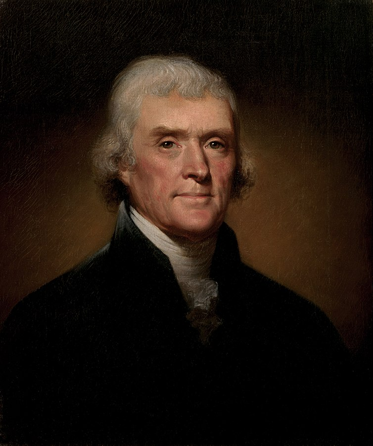 Thomas Jefferson by Rembrant Peale, 1800.