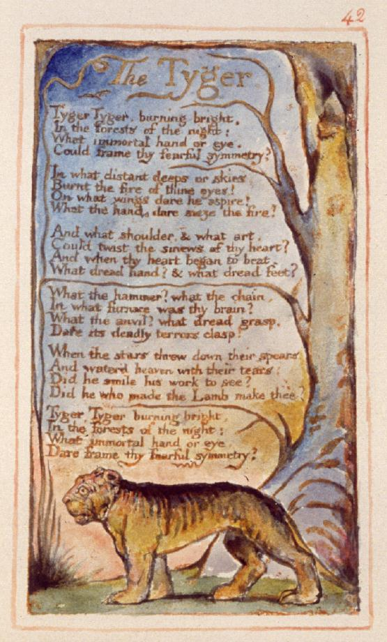 The Tyger   from William Blake's  Songs of Innocence and Experience