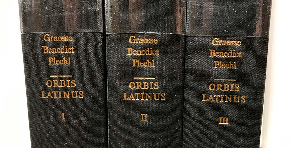Three volumes of  Orbis Latinus  by Graesse, Benedict and Plechl.