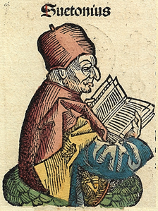 Suetonius in the Nuremberg Chronicles, 1493.