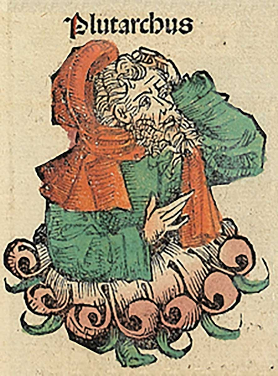 Plutarch in the Nuremberg Chronicles, 1493.