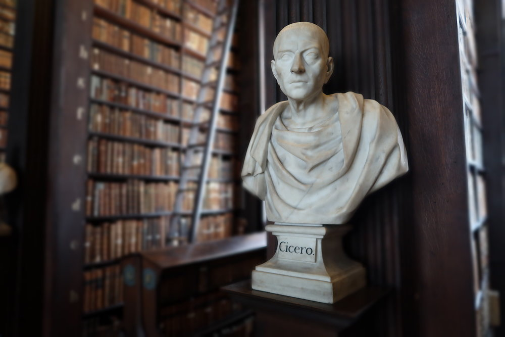 Cicero, Old Library Trinity college Dublin, photo Amelie Rosengren Latinitium.com.JPG