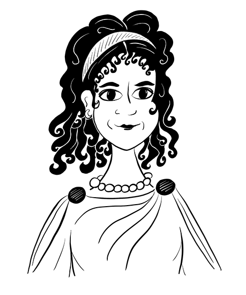This is Terentia. She is a young Roman woman who has just lost her father. He left her something on his deathbed though, something that drags her out on a search through the streets of Augustan Rome.