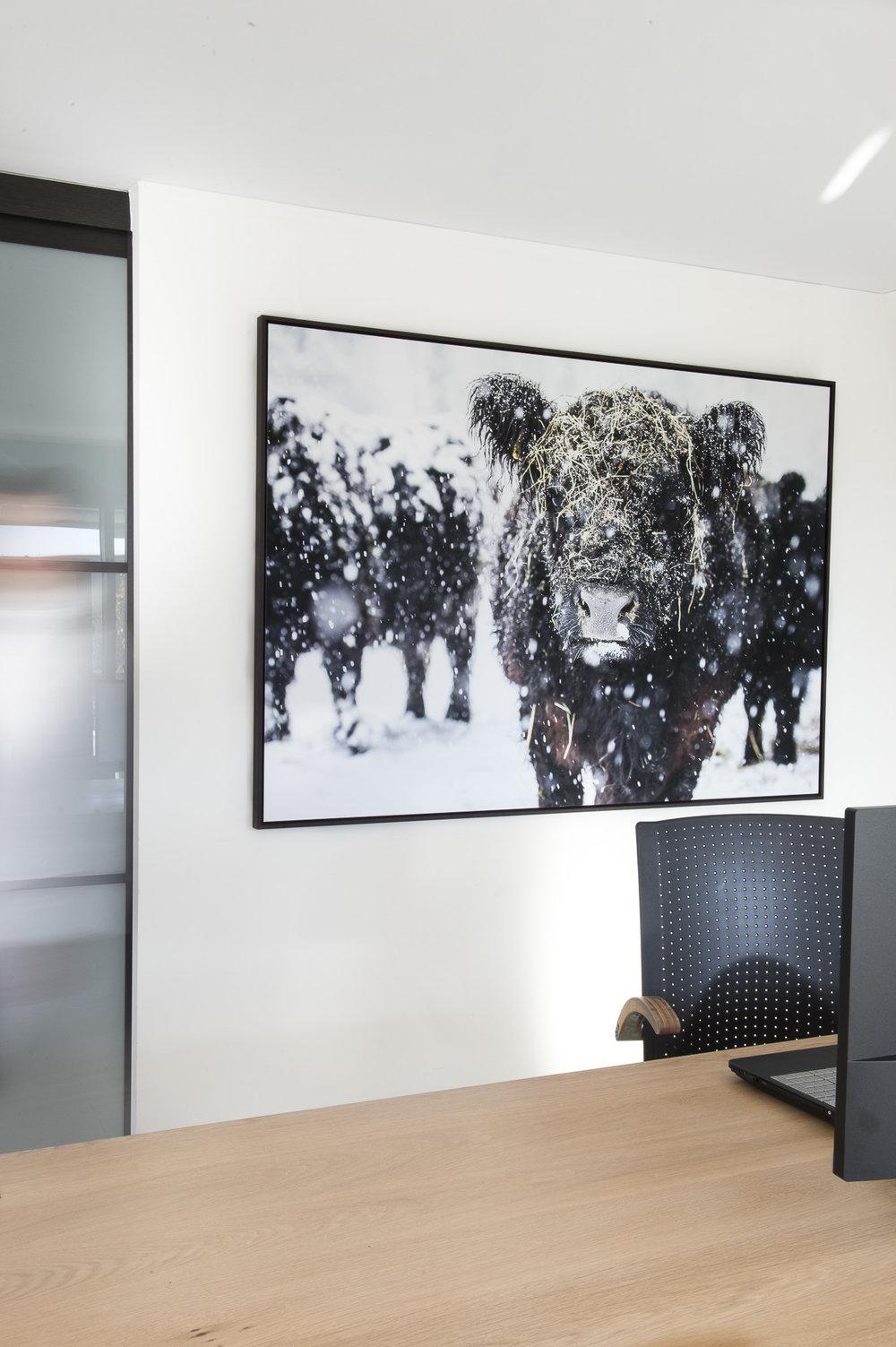 Leila 3/10, fine art print 120cm x 180cm, Schattenfugenrahmen wenge