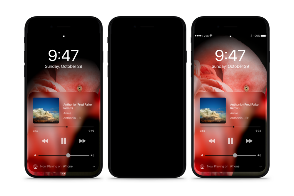 Dark Mode on iPhone 8: the iPhone without borders  Read more  |  See YouTube clip  |  Read 9to5Mac article