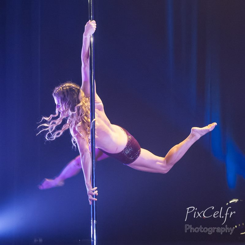POLE Choreography for the Dutch Pole Art Championship 2015 on the theme of the double personnality - Award: third place