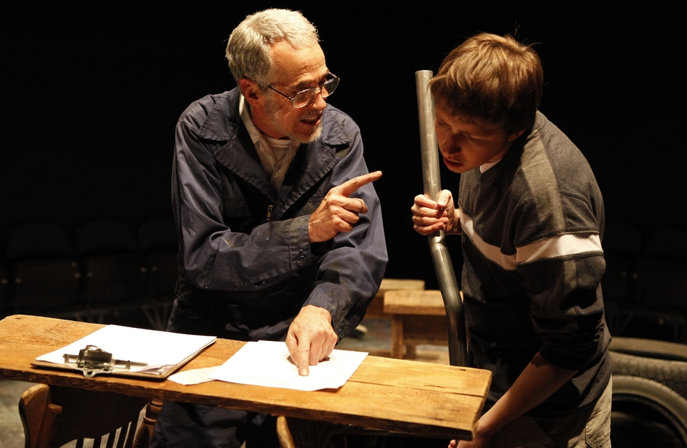 Bob Nuner and Will Roland at 59E59 Theaters in New York City.  Photo Carol Rosegg