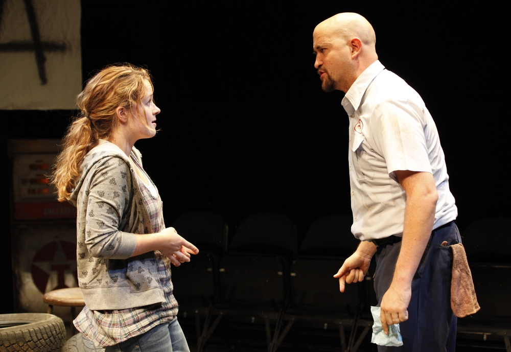 Julia Lawler and Travis Mitchell at 59E59 Theaters in NYC. Photo Carol Rosegg