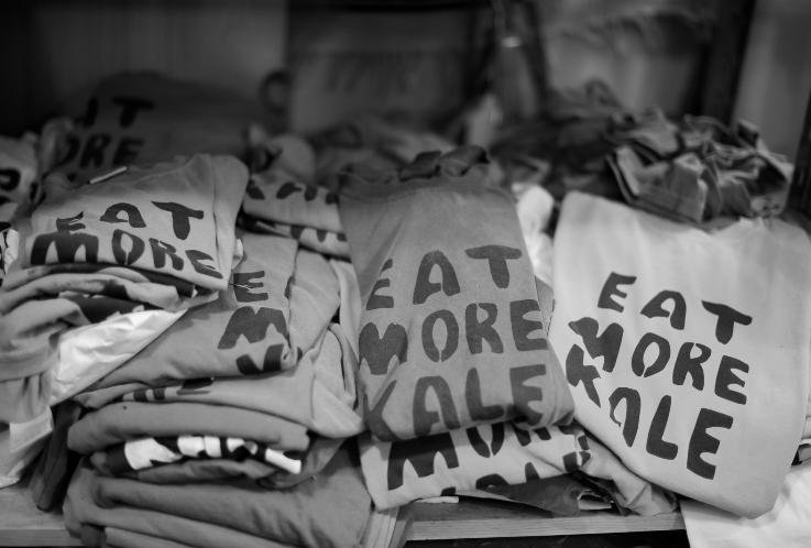 Eat More Kale T-shirts (photo Ben Sarle)