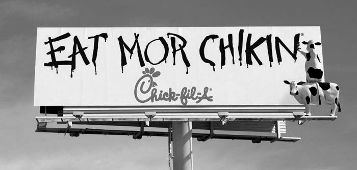 Atlanta-based Chick-fil-A's trademarked slogan (photo Chick-fil-A)