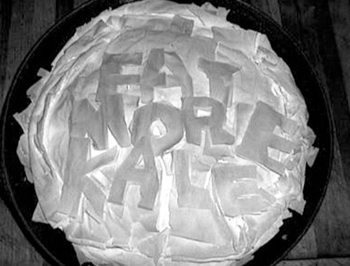 """""""We support your fight,"""" a Facebook fan posted an Eat More Kale pie"""