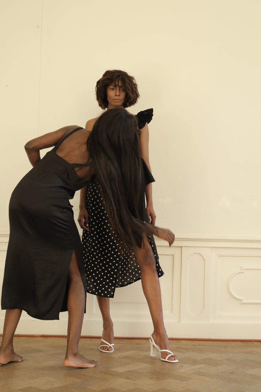 Founder Nsimba Valene styling model Tirza