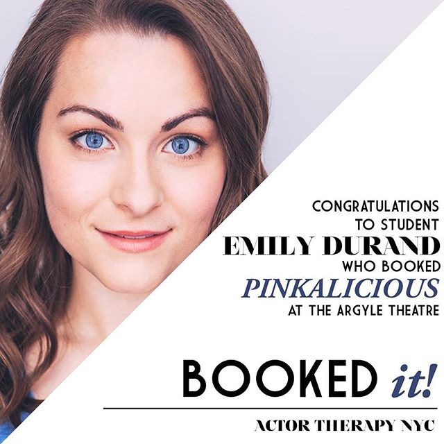 #BookedIt! Many congrats to student Emily Durant, who booked PINKALICIOUS at The Argyle Theatre!