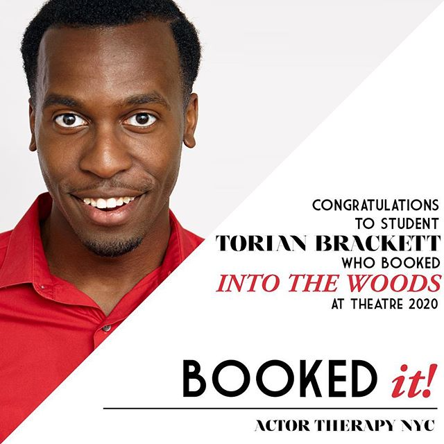 #BookedIt! Many congrats to student Torian Brackett, who booked INTO THE WOODS at Theatre 2020!