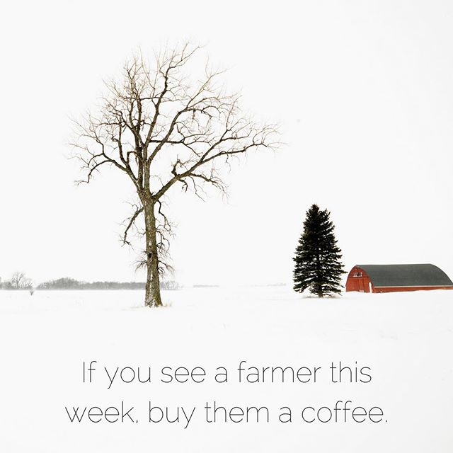 [Or maybe a whiskey.] It's hard enough leaving the house to pick up a pizza when it's this cold. Our local farmers are out there caring for herds and flocks and dealing with the myriad of issues that frigid temps pose to regular operations each day. #thankyou #farmersarebadass #nofarmsnofood #knowyourfarmer #supportlocal #ohioproud #ohiowinter #bundleup