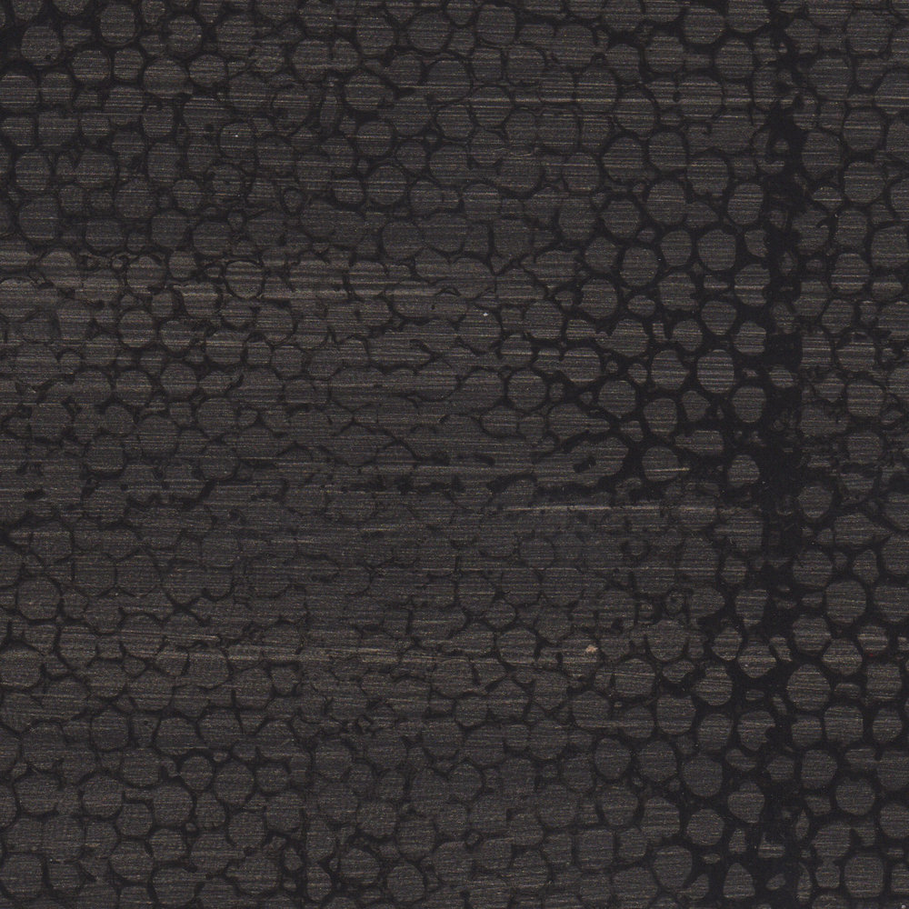 Black Faux Shagreen