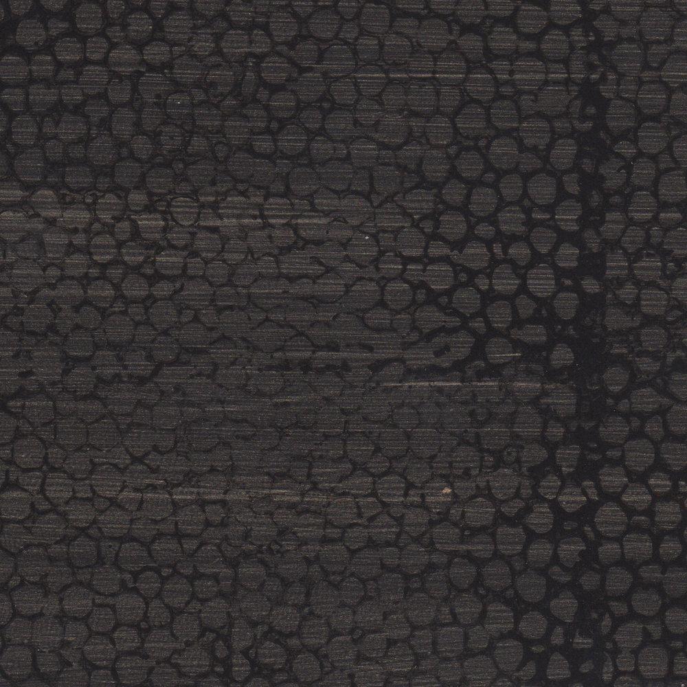 Black Faux Shagreen