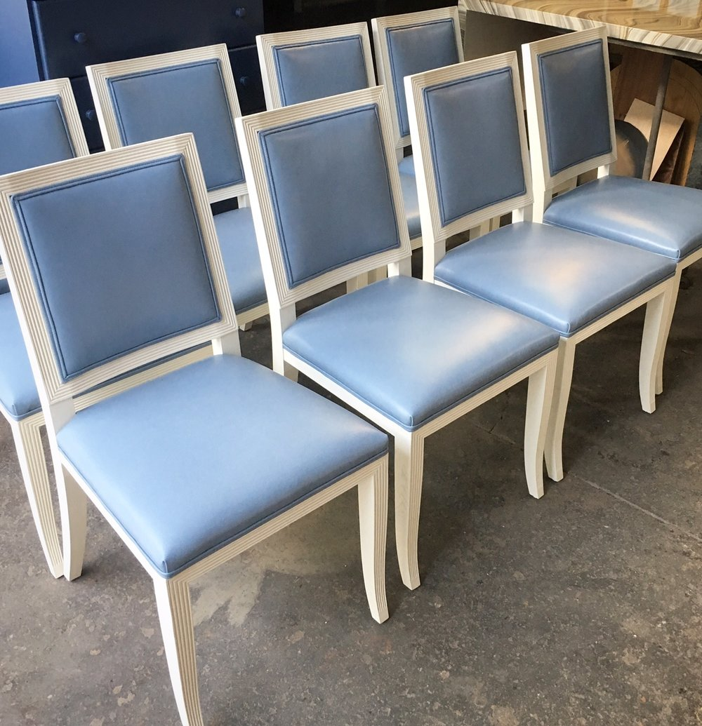 Custom Reeded Chairs with COL