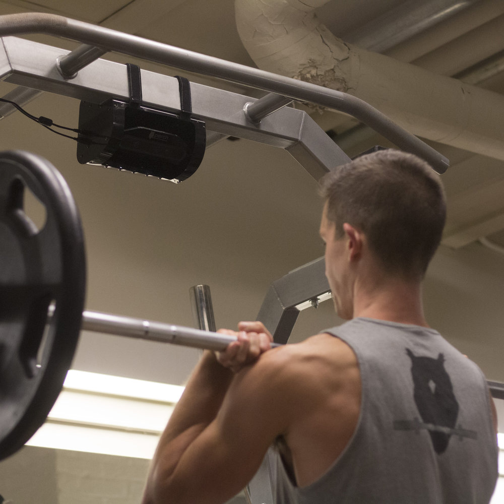 Eyes Where You Need Them Most - Perch is a camera that measures Bar Path, Bar Velocity, Power Output.Small, compact,and flexible, Perch can be mounted to any standard weight rack without loss of rack functionality.No Strings, No wearables, No change to your current workflow.