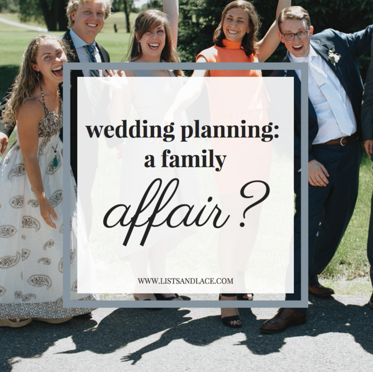 wedding planning a family affair lists lace