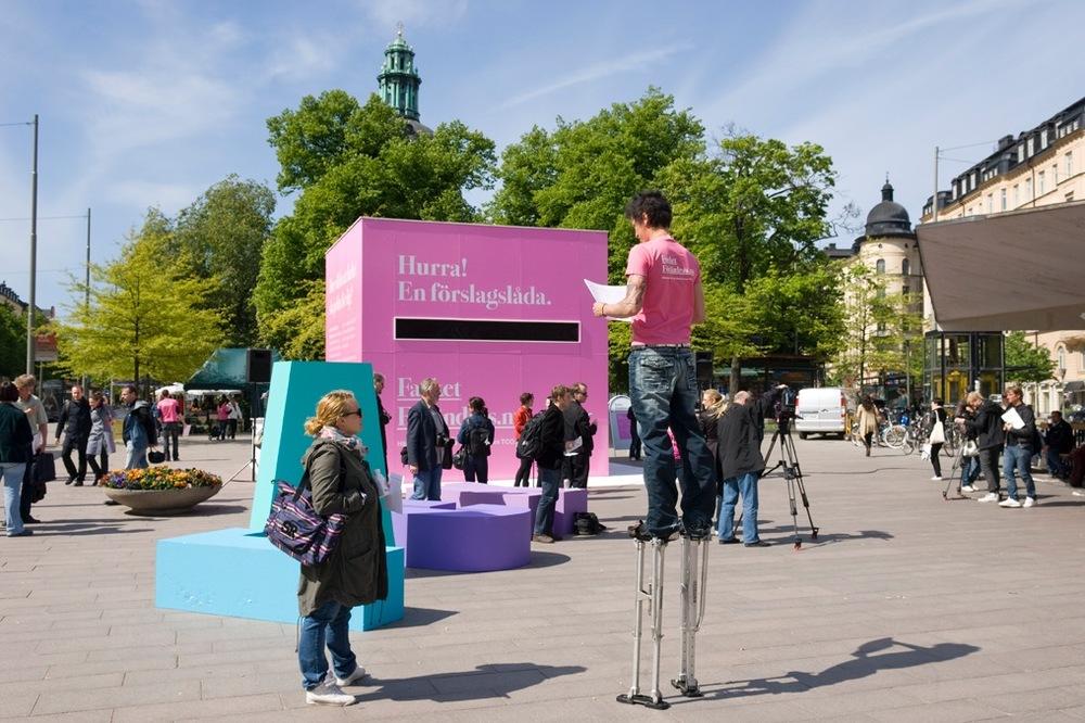 Sveriges största förslagslåda.  Kampanj och event för TCO.